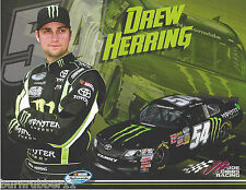 "2013 DREW HERRING ""MONSTER ENERGY"" #54 KBM GIBBS NASCAR NWIDE SERIES POSTCARD"