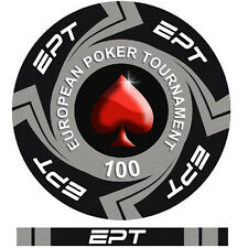 Fiches Ceramica EPT European Poker Tour Valore 100 - Bordo Allineato