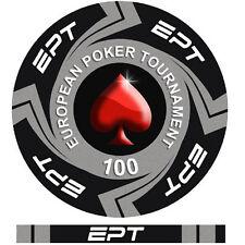 Bordo Allineato Fiches Ceramica EPT European Poker Tour Valore 50000