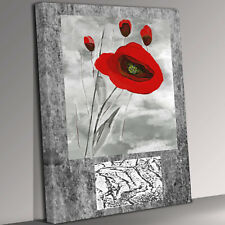 Red Flower Canvas Wall Art Picture Print