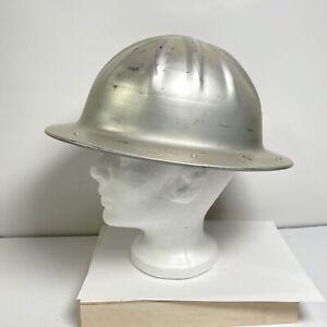 Vintage BF B. F. McDonald Helmet Hardhat Aluminum w/ liner USA Gulf Oil Company