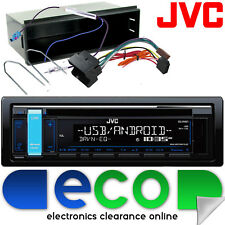 PEUGEOT 207 2006 JVC CD mp3 USB AUX iPhone Radio Stereo Auto & Fascia KIT DI MONTAGGIO