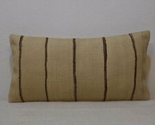 12''x24'' organic wool undyed sheep wool lumbar pillow cover kilim pillow cover