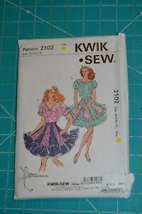 Kwik Sew sewing pattern #2102, womens square dance skirt & blouse, size XS-XL