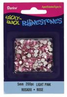 Darice-Sticky-Back Rhinestones 5 mm 200 pc Light Pink