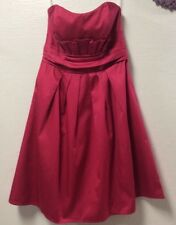 Ladies dress PRICILLA of BOSTON size 2 pink padded bra top prom bridesmaid  15