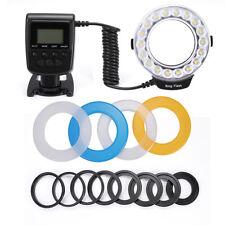 RF600D LED Macro Flash Light Lamp w/ 8-Ring for Canon Nikon Sigma Digital Camera