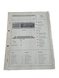 Original Service Manual Schaltplan SABA Lindau F