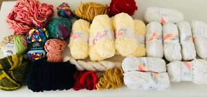 Vintage Large lot knitting yarns wool all colours England Australia