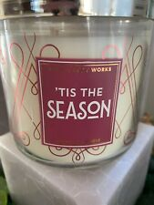 Bath & Body Works Tis The Season Large 3-Wick Candle 14.5 oz Christmas Holiday