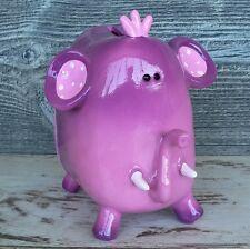 Spardose lila Elefant mit Krone Mädchen Geburtstag Geburt Geschenk Sparschwein