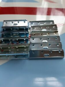 """10 metal clips for 2"""" wide Pirelli Webbing  Upholstery Settee Sofa Chair Ercol"""