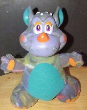 Russ berrie dragon monster plush vinyl head purple teal vintage
