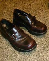 Dansko Women's Red Brown Leather Slip on Loafer Shoes Size Eur 40 US 9.5