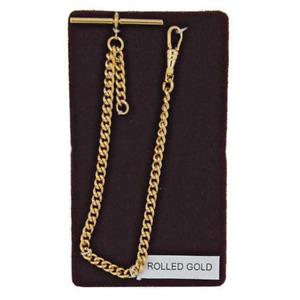 Stunning Single Albert Rolled Gold 9ct Pocket Watch Chain Heavy Birthday Gift