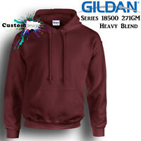 Gildan Maroon Hoodie Heavy Blend Basic Hooded Sweat Mens Pullover Shirt