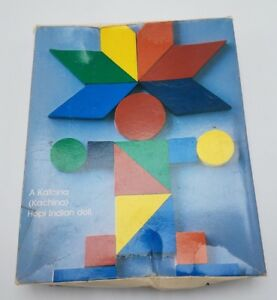 Vintage 80's Design Discovery Toys Educational Wood Tangrams w/Book COMPLETE!!