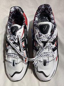 Asics Gel Kayano 5 OG Men's New White Black Red Running Shoe Sz 9.5