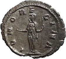 SALONINA wife of GALLIENUS 256ADAuthentic Ancient Silver Roman Coin JUNO i45555