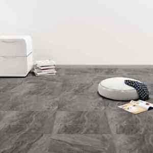 vidaXL Listoni per Pavimenti Autoadesivi in PVC Nero Motivo Mattonelle Adesive