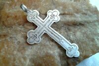 "ANTIQUE c.19th CENT IMPERIAL RUSSIAN SILVER ""84"" ORTHODOX CROSS ""SAVE & PROTECT"""