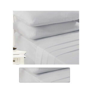 Double Bed Extra Deep Non Iron Percale Poly Cotton Silver Double Sheets Fitted