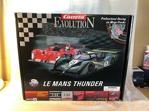Carrera Evolution Le Mans Thunder Mega Track Bentley Slot Car Panoz Roadster