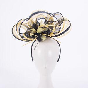 Church Fascinators Hats Womens Headpiece Kentucky Derby Sinamay X1084
