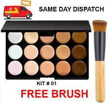 15 Colours Concealer Palette kit with Brush Face Makeup Contour Cream Palette #1