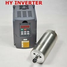 1.5KW ER11 Water-cooled CNC Spindle Motor+1.5KW 220V VFD Inverter Drive 80mm Dia