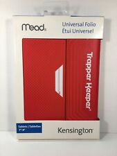 "Mead Trapper Keeper Red Folio Universal Case For 7"" to 8"" Tablet"