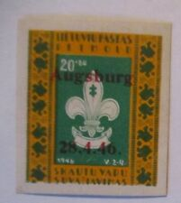 Litauen Lagerpost Baltic DP Camp Augsburg Boy Scout Stamp xx 1946 (47874)