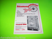 ROTAMINT RECORD 100 By NSM ORIGINAL GERMAN TEXT SLOT MACHINE SALE FLYER BROCHURE