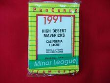 1991 HIGH DESERT MAVERICKS MINOR LEAGUE TEAM SET PROCARDS FACTORY SEALED NICE