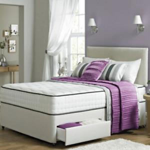 ORTHOPAEDIC BED classic divan memory mattress headboard double,king, Superking