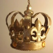 "4"" Golden Crown Christmas Ornament New in box ~ NWT"