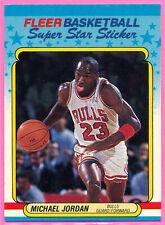 1988-89 Fleer Super Star Sticker Michael Jordan #7 HOF NM-MT Nice Centering