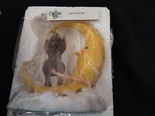 """Charming Tails/Fitz & Floyd """"Reach For The Stars"""" Mouse & Moon Figurine"""