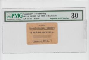 Lager Floßenbürg, 1 RM Prämienschein, Nummer 164164, r gebraucht, Grading 30