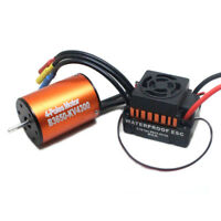 Waterproof 3650 4300KV Brushless Motor w/ 60A ESC Combo Set für 1/10 RC Car W9M5