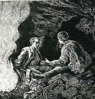 Edward Whymper und Michael Croz - Bergsteiger - Matterhorn - um 1920   Y 47-2