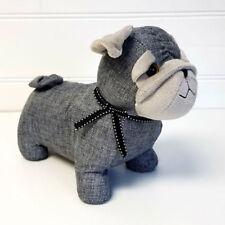 """Door Stop """"Grey Pug"""" Dog Canvas Doorstop 1.5 kg Fabric"""