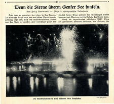 Felix Baumann Wenn die Sterne überm Genfer See funkeln Montblancbrücke...v.1911