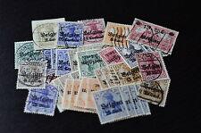 Deutsche Besetzung I. Weltkrieg, Belgien ex MiNrn.1 - 25, 50 Briefmarken, o/*/**