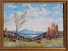 Russischer Maler N. Kulinow - Baykalsee - Landschaftmit Kühen  xxx 61-711 xxx