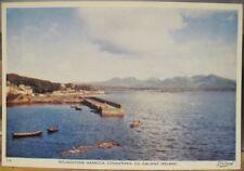 Irish Postcard ROUNDSTONE HARBOUR Connemara Galway Ireland Dollard Tru-Color 316