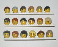 Lego ® Tête Head Visage + Cheveux Hear Man Minifig Homme Choose Model 3626 NEW