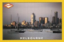 EXTRA LARGE 18x12cm AUSTRALIAN COLOUR POSTCARD Melbourne City Skyline at Dusk