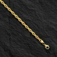 "14k SOLID Gold ROPE Pendant link Chain/Necklace 20"" 2 mm  5.5 grams  SR014"