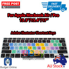 """Adobe Illustrator Keyboard Cover Protector for Apple MacBook Pro Air 13.3 15"""" 17"""